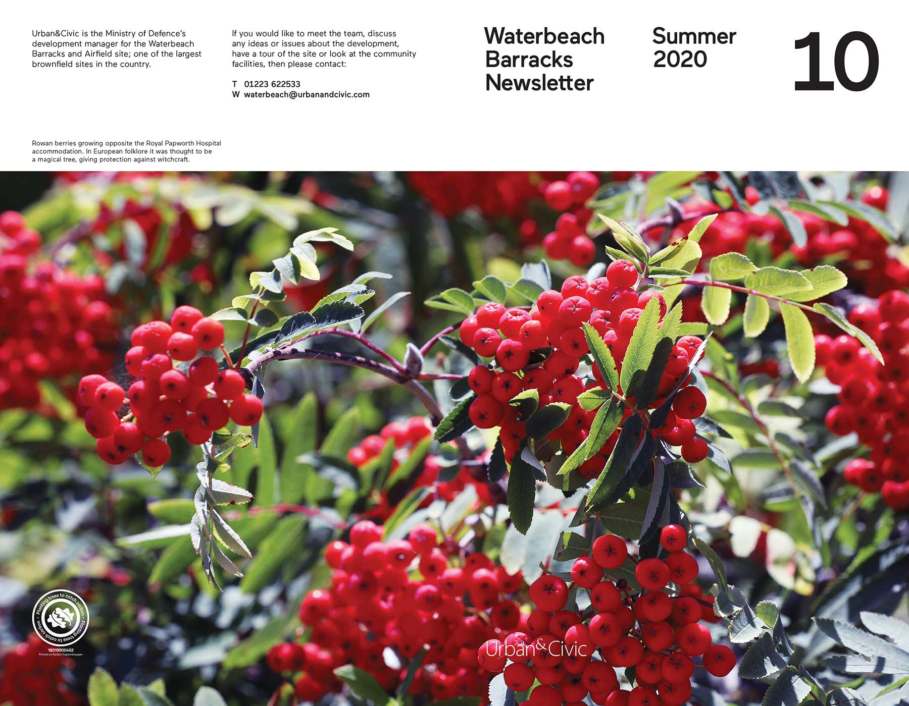 Waterbeach barracks summer newsletter cover