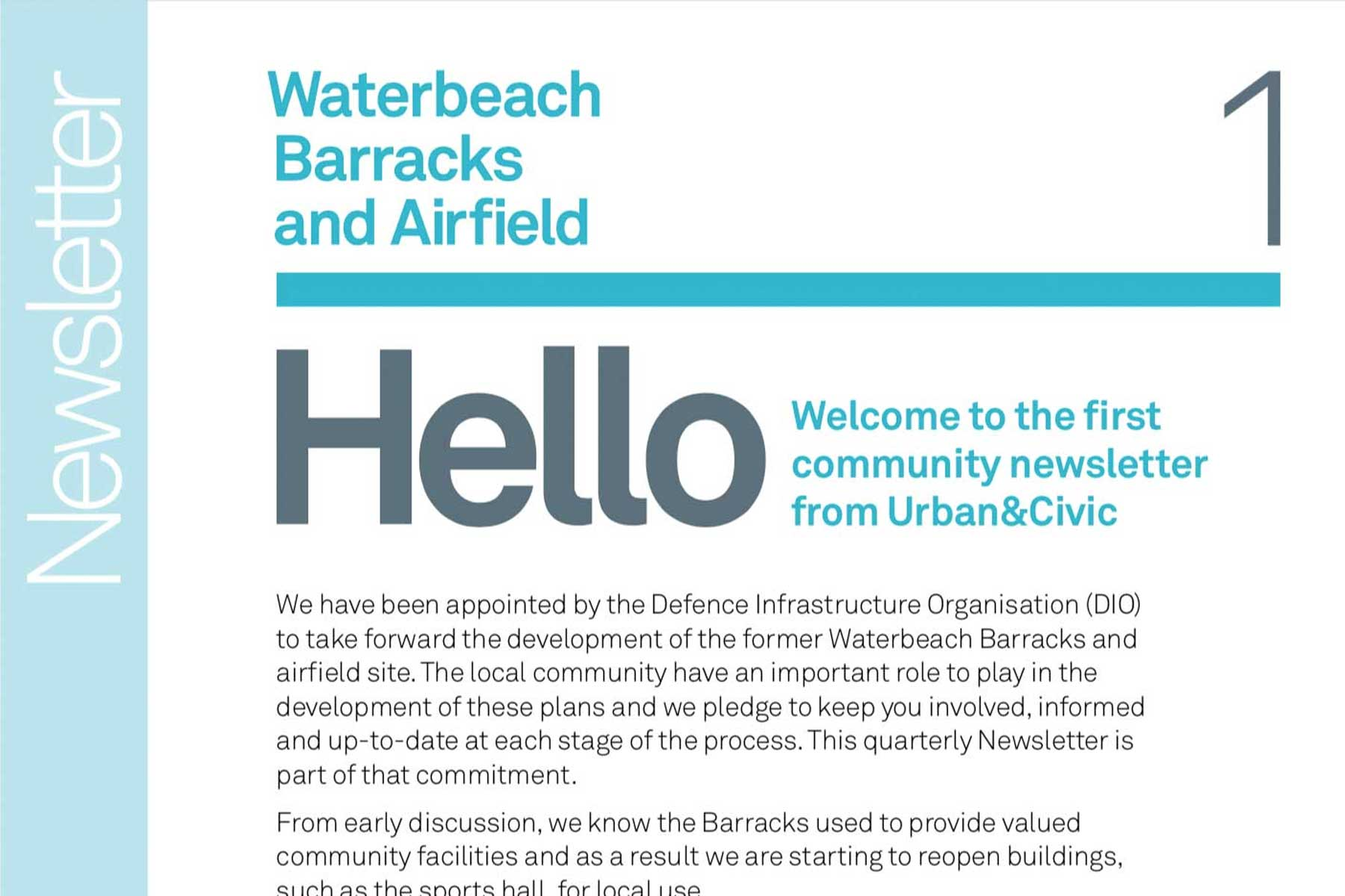 """Featured image for """"Waterbeach Barracks Newsletter Autumn 2015"""""""