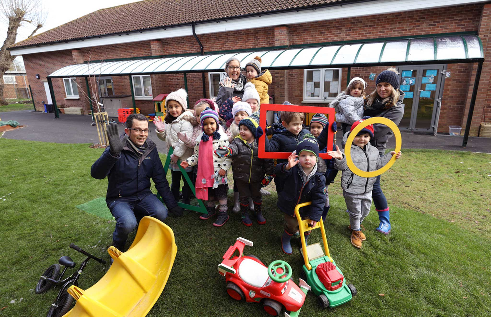 playgroup outside at Waterbeach