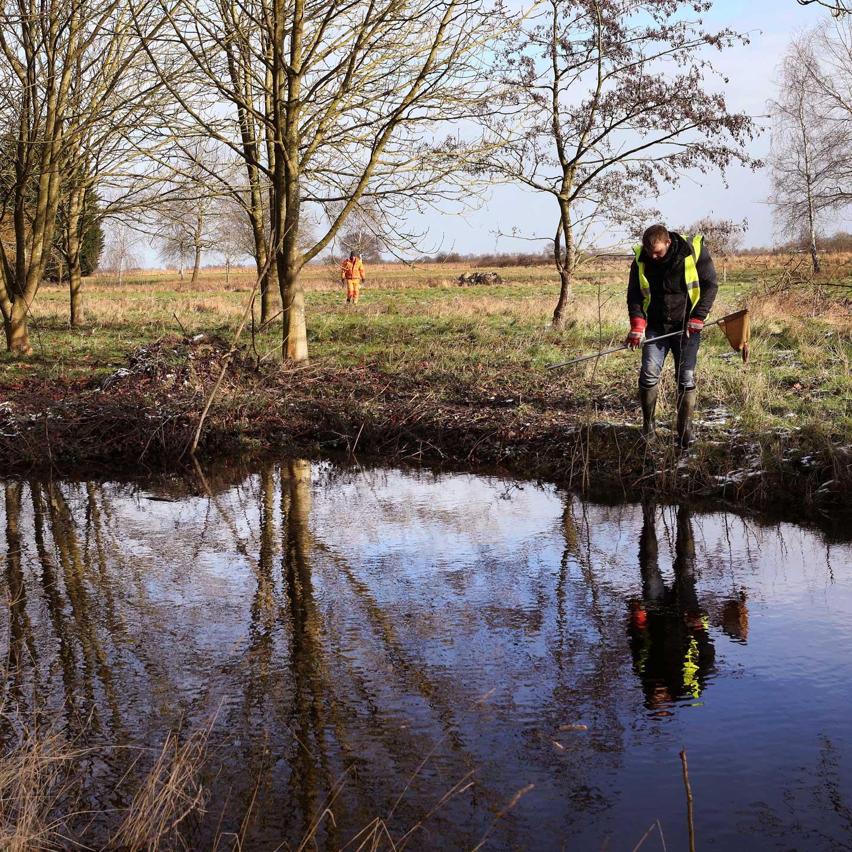 habitat works at waterbeach