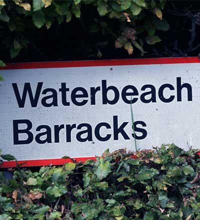 Roadsign for Waterbeach Barracks